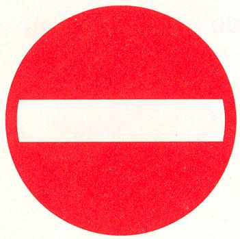 Eenrichtingsweg, in deze richting gesloten voor voertuigen, ruiters en geleiders van rij- of trekdieren of vee