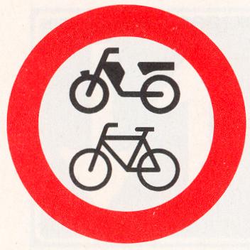 Gesloten voor fietsen, bromfietsen en gehandicaptenvoertuigen