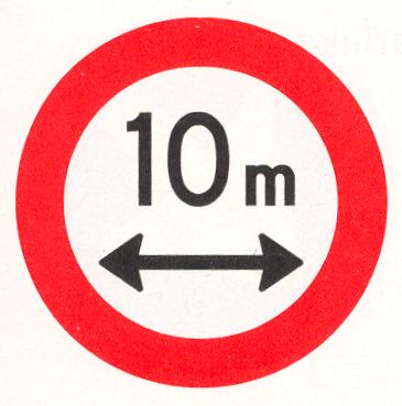 Gesloten voor voertuigen en samenstellen van voertuigen die, met inbegrip van de lading, langer zijn dan op het bord is aangegeven