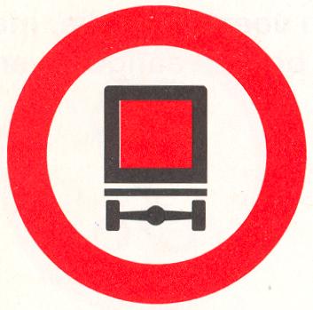 Gesloten voor voertuigen met bepaalde gevaarlijke stoffen