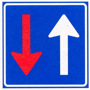 Bestuurders uit tegengestelde richting moeten verkeer dat van deze richting nadert voor laten gaan