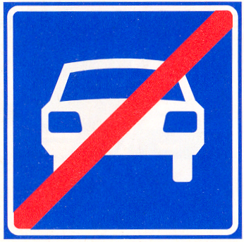 Einde autoweg