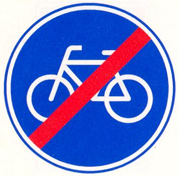 Einde verplicht fietspad