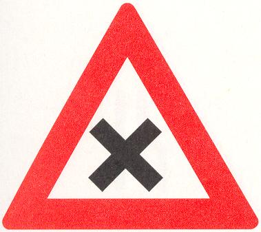 Let op: Gevaarlijk kruispunt
