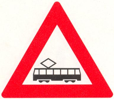 Let op: Tram(kruising)