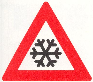 Let op: IJzel of sneeuw