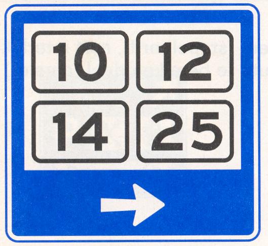 Wijkwegwijzer binnen de bebouwde kom, met wijknummers (in verkeersgebieden)