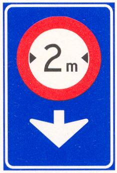 Verkeersbord geldt alleen voor de aangegeven rijstrook